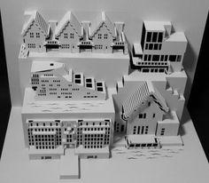 Paper Cut Building Architecture, Ingrid Siliakus. Still more architecture