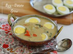 Eggs in a Coconut milk based creamy gravy the perfect breakfast Combo @ HOSpice !!