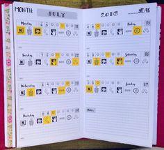 Weekly Fibromyalgia Pain Tracker WO2P Traveler's by BlueLemonPaper