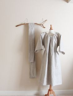 handmade to measure linen many moods obi dress by annyschooecoclothing