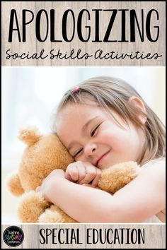 Apologizing: Social Skills Worksheets, Activity and Social Narrative Teaching Emotions, Autism Teaching, Teaching Resources, How To Apologize, Kindergarten Activities, Social Skills, Speech Therapy, Life Skills, Special Education