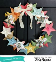 Star Wreath by Holly Gagnon for #echoparkpaper