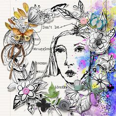 Identity | The Lilypad Word Art, Female Sketch, Creative, Digital Scrapbooking, Dreaming Of You, Art, Assemblage, Altered Art, Mixed Media Art Journaling