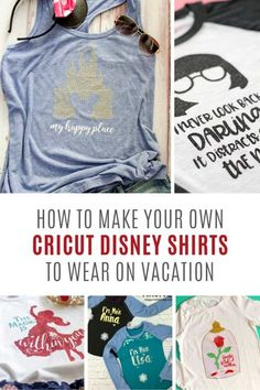Family Disney Shirt Ideas {Adorable matching family Disney shirts for your vacation! Cute Disney Shirts, Matching Disney Shirts, Disney World Shirts, Disney Shirts For Family, Disney Tees, Shirts For Teens, Disney Diy, Disney Magic, Disney Crafts