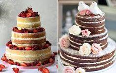 Resultado de imagem para bolo de casamento sem glacê