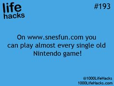 Next time I'm bored and want to play some old Nitendo games for free :)