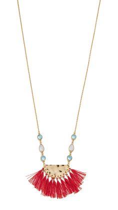 Fanned Tassel Pendant Necklace