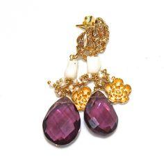 Large Amethyst Earrings Amethyst Jewelry Dressy Earrings by FizzCandy, $70.00