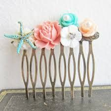 Image result for coral and aqua beach wedding