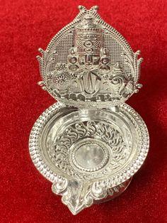 Diya Lamp, Traditional Trends, Silver Payal, Silver Pooja Items, Pooja Mandir, Silver Lamp, Puja Room, Gold Models, Silver Gifts