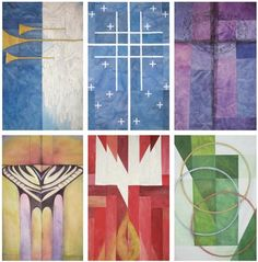 Banners by Karen Gjelton Stone found in Christian Century magazine.