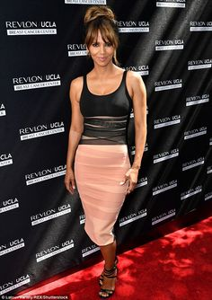 Wow factor: Halle Berry looked stunning at the Revlon Annual Philanthropic Luncheon in Los...