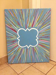 Blue vibrant quatrefoil canvas #PhiMu