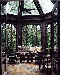 Gorgeous room, seen them called Thunderstorm Rooms, Atriums, Indoor Outdoor Rooms, Glass Rooms.. But they are breathtaking.
