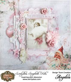 wirlydoos Kit Club*Shabby Christmas -Kaisercraft - Silver Bells Collection - Christmas