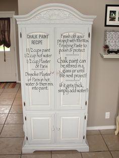 Chalk Paint Recipe Make Chalk Paint, Homemade Chalk Paint, Chalk Paint Projects, Chalk Paint Furniture, Furniture Projects, Furniture Makeover, Diy Furniture, Dresser Makeovers, Furniture Repair