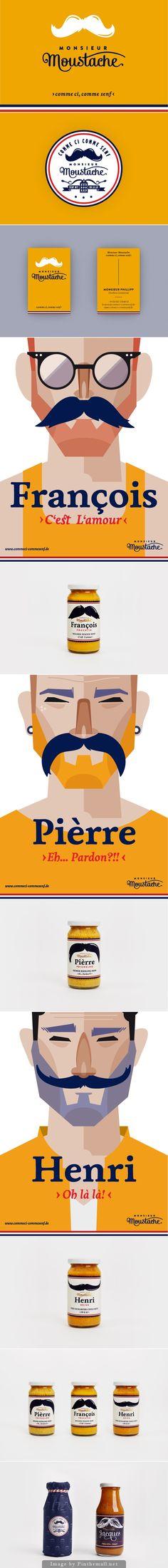 Monsieur Moustache Mustards