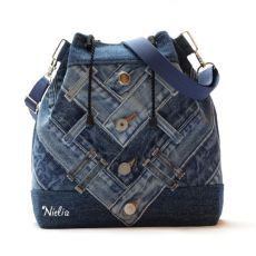 Denim Backpack, Denim Purse, Quilted Tote Bags, Patchwork Bags, Jean Purses, Purses And Bags, Backpack Pattern, Recycled Denim, Fabric Bags