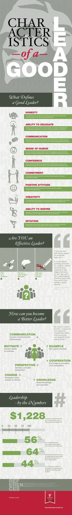 Characteristics of a good leader -SG