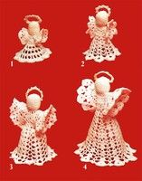 Free Pattern:Angel Ornaments and Tree Toppers