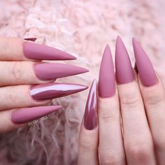 Pointy nails can look scary and dangerous if you do not know the ways… - #nails #long #longnails