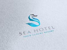 sea hotel logo / foil