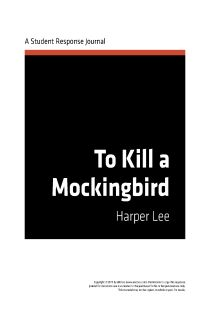 A response on to kill a mockingbird by harper lee