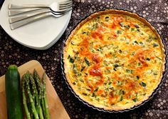 Chocolate & Chillies - Recipes. Reviews. Giveaways.: Asparagus and Zucchini Quiche with a Whole Wheat Tart Dough {SRC}