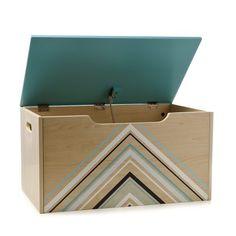 Adairs Kids Timber Toy Box Mountains, kids toy box, toy box