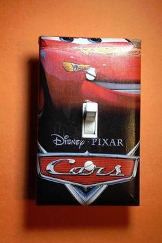 Cars Lightning McQueen Mater Light Switch Cover kid boy child bedroom room decor