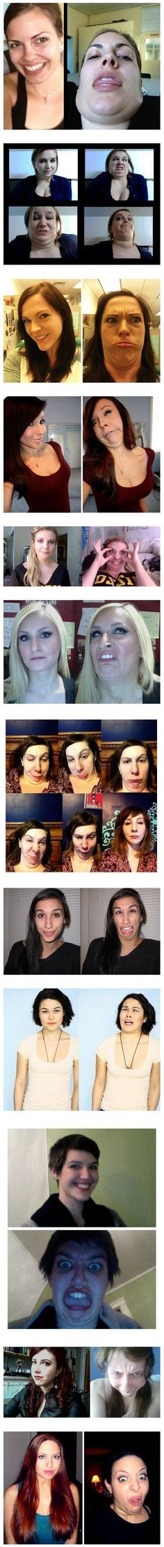 Funny Pictures - Ladies what are you doing everyone has the face.