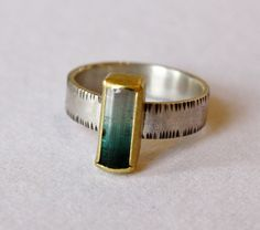 Ombre Tourmaline Crystal Ring  by Sam Woehrmann