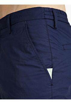 Kenzo Men's Navy Slim-Fit Cotton Trousers | oki-ni