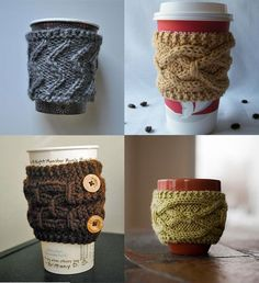 I really wanna try my hand at cable knitting patterns. Something small, like this, would be a good starter project.