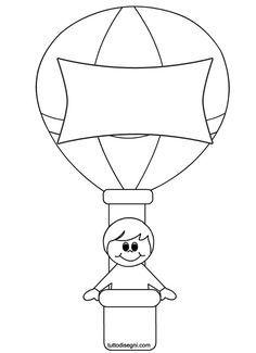 Air Ballon, Hot Air Balloon, Free Printable Coloring Pages, Coloring Pages For Kids, Balloon Crafts Preschool, Transportation Crafts, Quiet Book Templates, Baby Room Diy, School Clipart