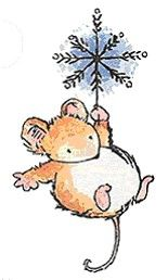 Cute illustrations - Christmas Mouse Ornament by Penny Black, Inc. Watercolor Christmas Cards, Christmas Drawing, Christmas Paintings, Watercolor Cards, Watercolour, Maus Illustration, Illustrations, Christmas Rock, Christmas Crafts