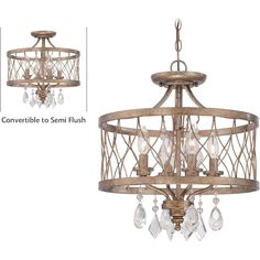 Minka Lavery West Liberty 4 Light Semi Flush Mount ML-4403-581 $374.85