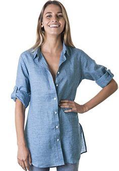 8eeececd139 CAMIXA Womens 100% Silk Blouses Ladies Shirt Casual Pocket Button up  Elegant Top S Ivory   WOMEN LINEN SHIRTS in 2019   Blouse, Shirts, White  linen shirt