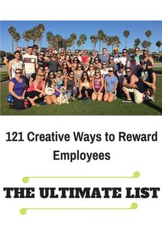Great ideas on how to recognise employees with rewards to improve employee engagement and workplace productivity.