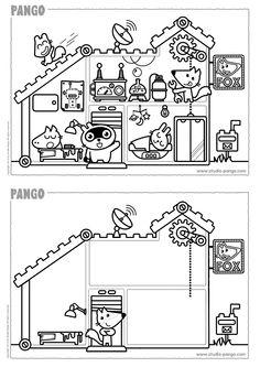 foxs house coloring drawing studio pango pango printable activities for kids