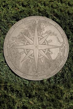 All of our products, unless otherwise noted, are made from the highest quality concrete materials. Our Compass Stepping Stone makes a beautiful addition to any garden. Create a beautiful pathway through your garden, or make a focal point in your garden. Paver Stones, Garden Stepping Stones, Garden Path, Garden Ideas, Sidewalk Landscaping, Landscaping Ideas, Garden Landscaping, Septic Tank Covers, Concrete Garden Statues