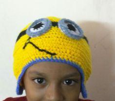 crochet minion hat for my nephew !