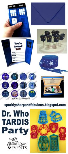 The Sparkle Queen: Doctor Who TARDIS Party CRAFTY BUTTON DESIGNS is featured in this blog!