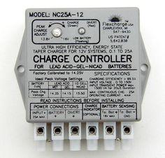 Flexcharge Solar Wind Hydro Turbine Charge Controller NC25A-12 hybrid 12 volt US #Flexcharge
