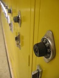 These were like our school lockers, except they were just grey metal.