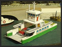 Simple Ferry Boat Free Paper Model Download - http://www.papercraftsquare.com/simple-ferry-boat-free-paper-model-download.html