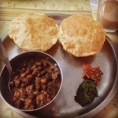 home food, chana poori
