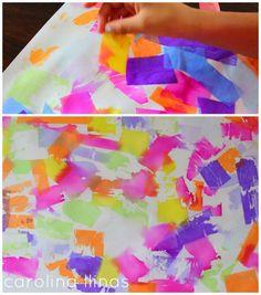 Del Blog Nuestro Mundo Creativo: Arte con papel seda