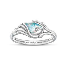 I Am With You Diamond And Created Opal Ring My Mother's birthstone is Opal.
