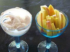 cinnamon apple dip   healthy, natural, high protein snack